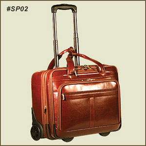 Joseph Daniels Sp 02 Brown Leather Rolling Laptop