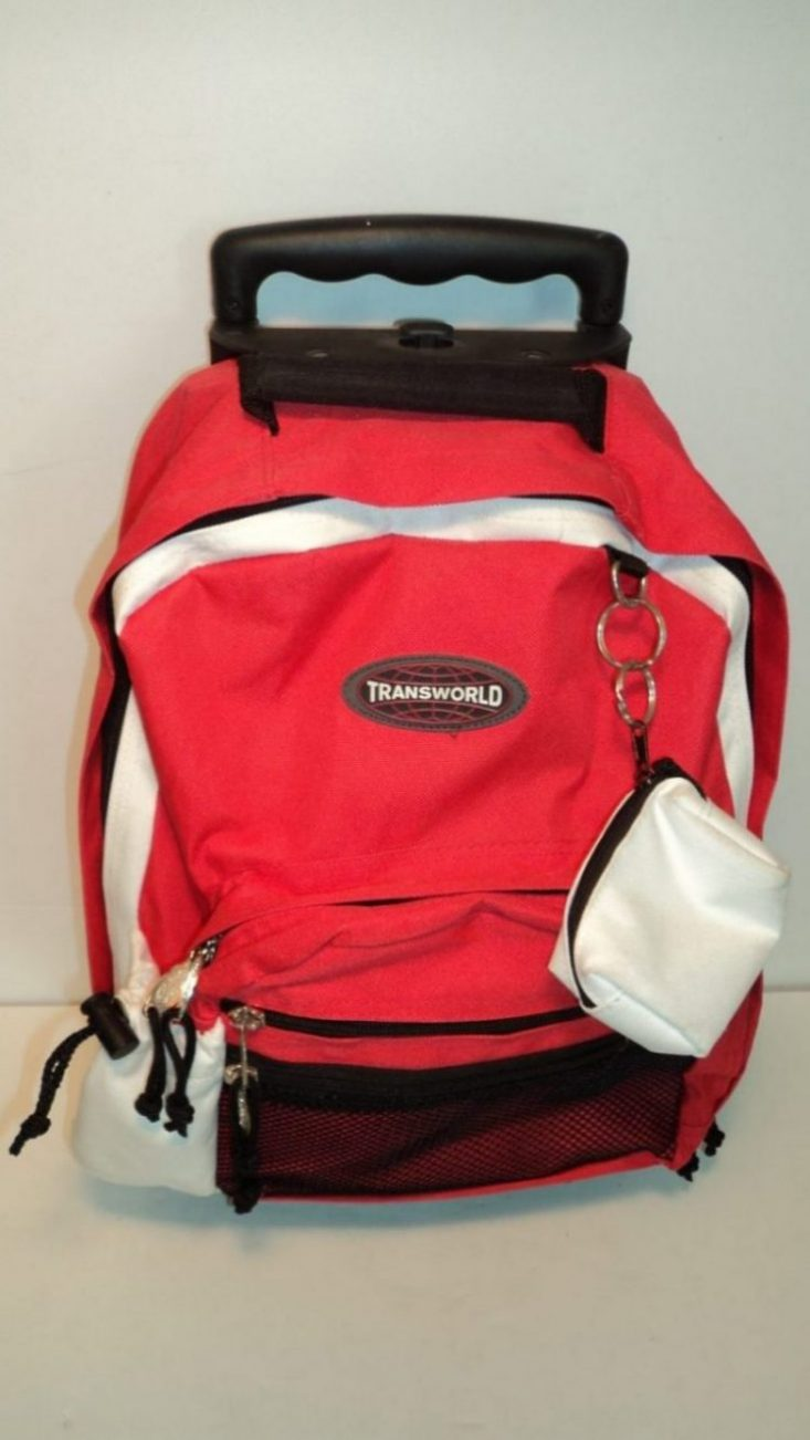 Transworld 5931 Red Nylon Rolling Backpack Gene S Luggage