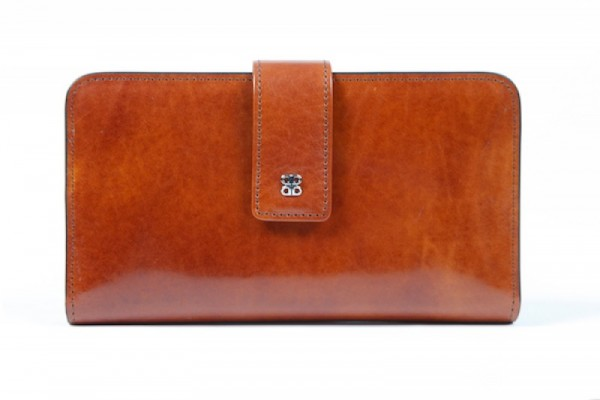 Bosca Old Leather 1517 Leather Checkbook Clutch Wallet