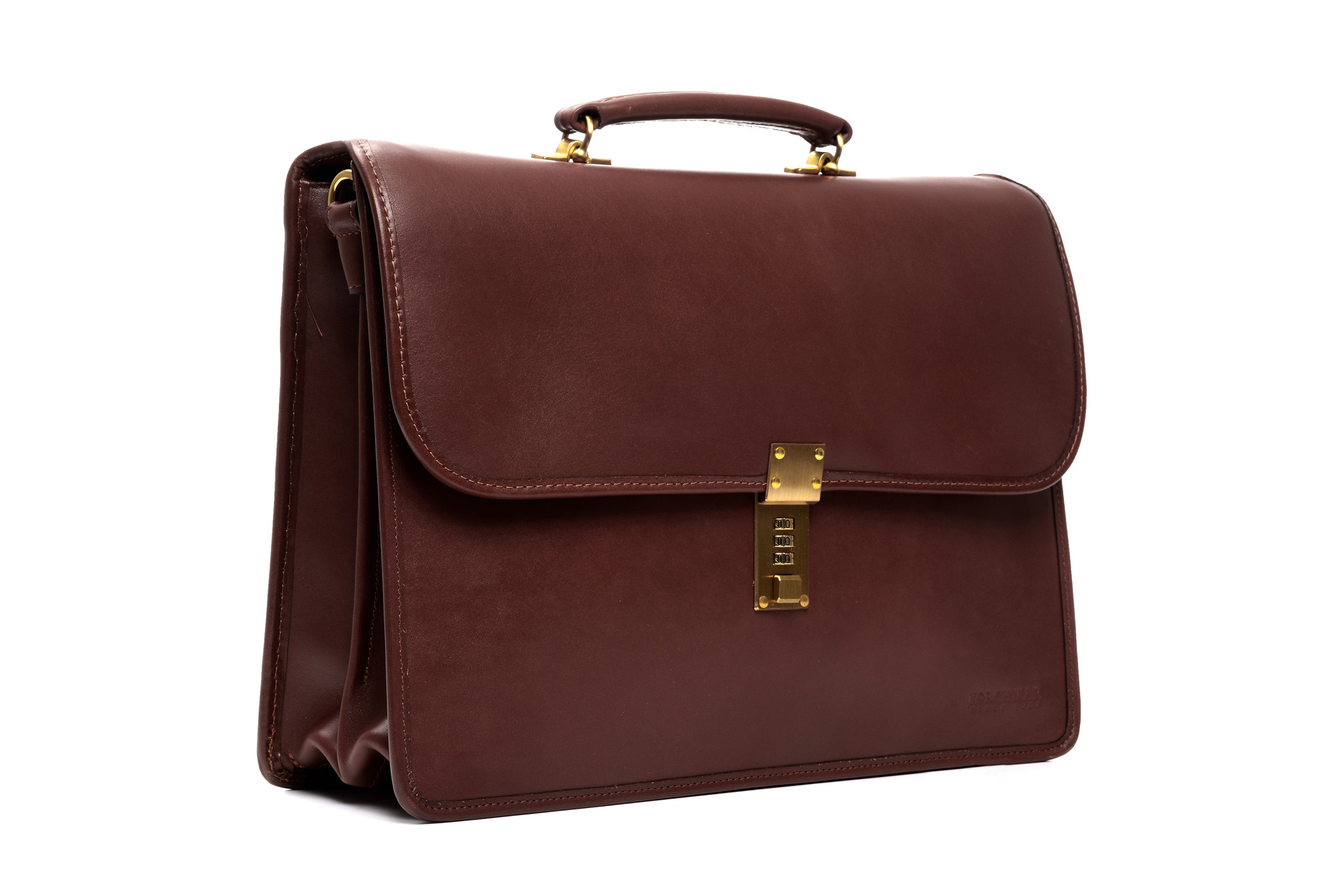 Korchmar Elliot F1228 Leather Double Flap Over Briefcase
