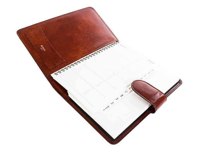 """Bosca Old Leather 927 Italian Leather Snap 8""""x 6"""" Planner ..."""
