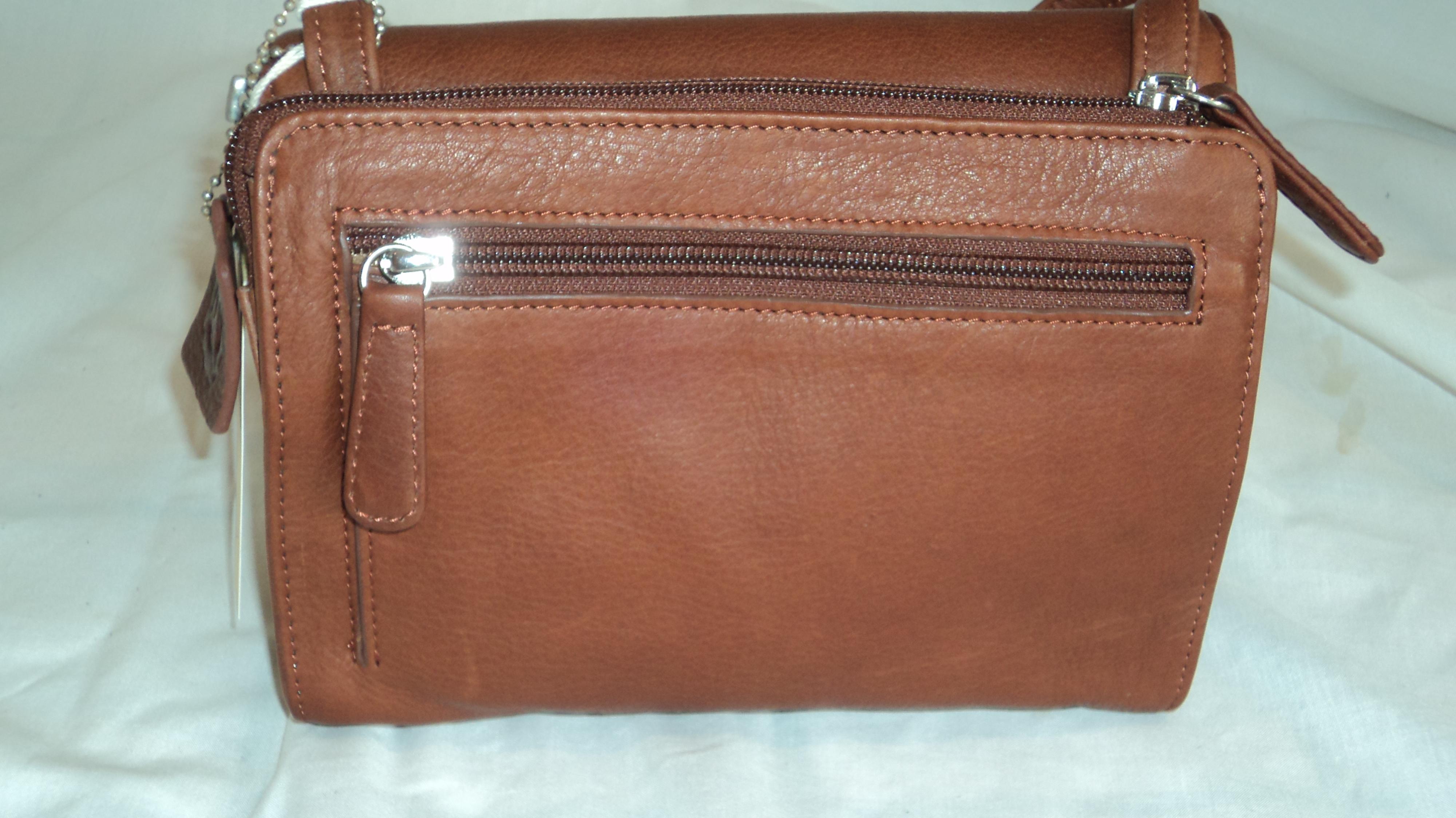 Osgoode Marley 4618 Leather Organizer Shoulder Handbag