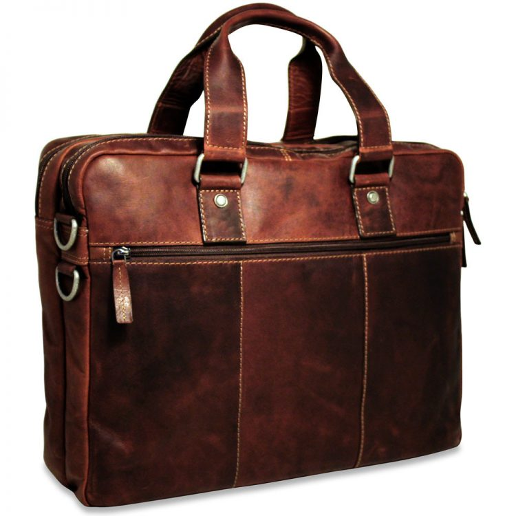 Jack Georges Voyager 7317 Double Gusset Briefcase Gene S